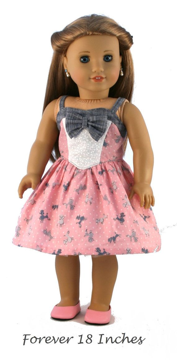 18 Doll Clothes fits American Girl Dolls Black by Forever18Inches