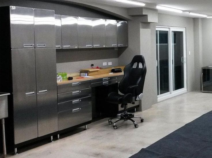 Car Guy Garage: Stainless Steel Cabinet And Workbench Package