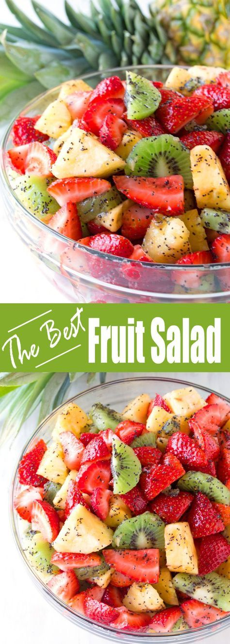 This winning combination of fruits drizzled with a lemon poppy seed dressing make up the best fruit salad you'll ever have.