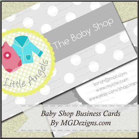 Baby Shop Boutique Business Cards DIY | business cards | Pinterest ...