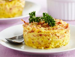 Petits flans jambon fromage