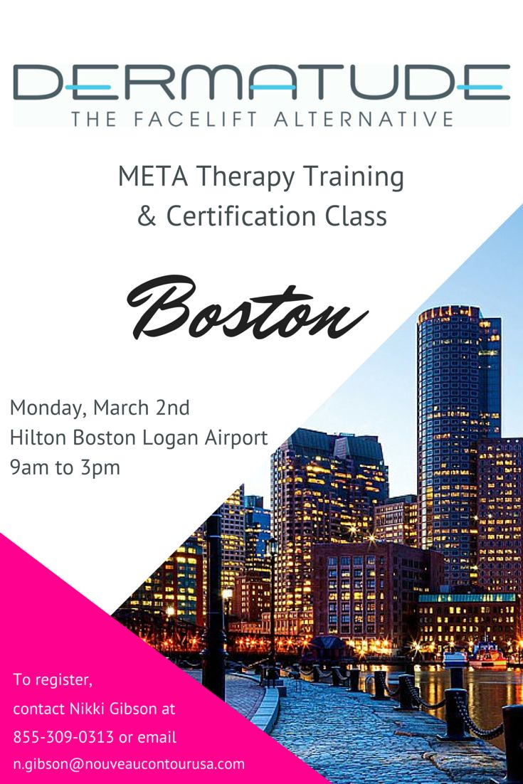 Join us for our next class in #Boston. Contact Nikki to register! #Dermatude #MedicalSpa #Esthetician #Dermatologist #antiaging #MetaTherapy