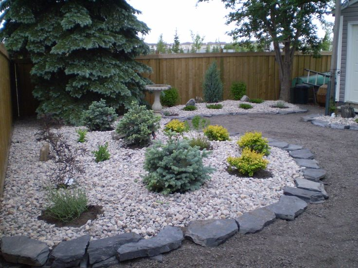 Landscape : Flat Rock Patio With Mulch Within The Most Amazing In ...