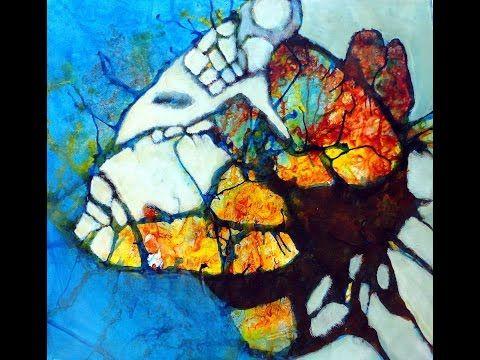 Acrylmalerei mit dem Fön
