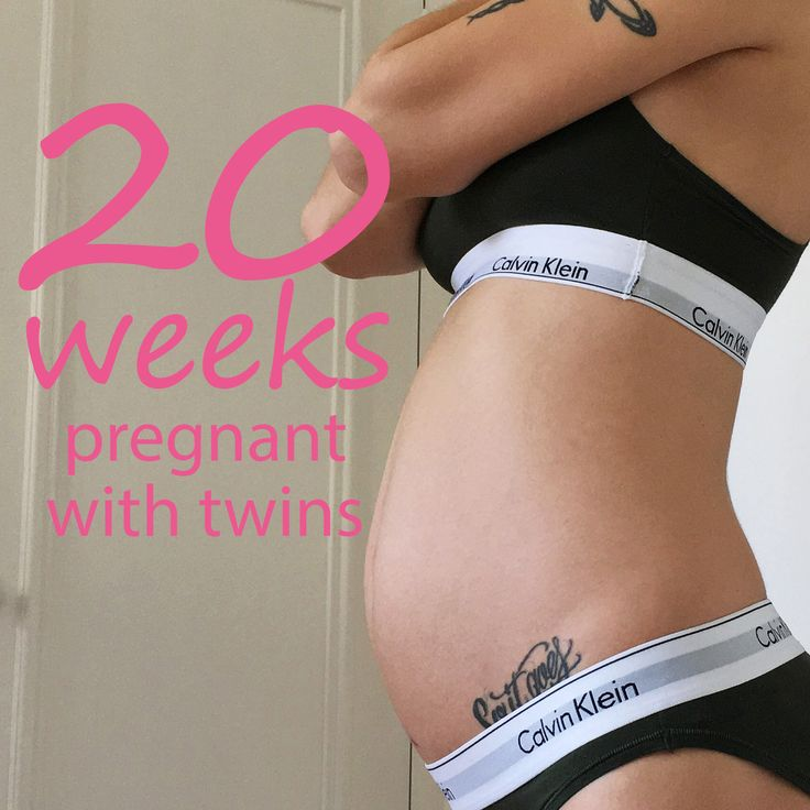 20 weeks pregnant with twins belly