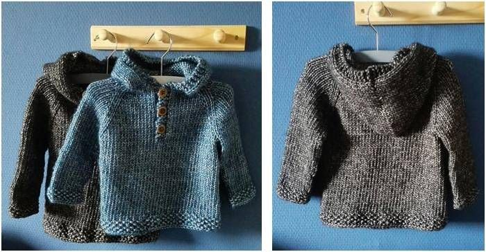 Spiffy Knitted Kiddie Pullover [FREE Knitting Pattern]