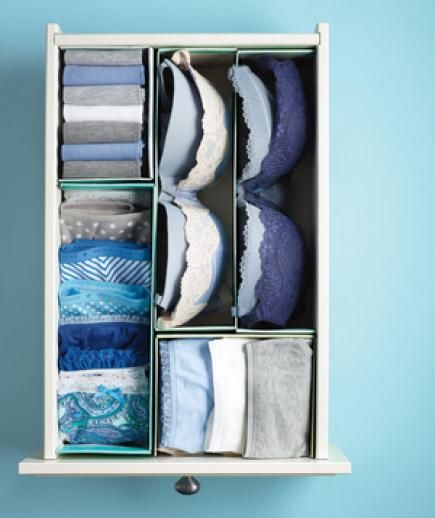 Use Shoe Boxes as DIY Dividers - 10 Cheap Organizing Hacks for a Clutter-Free Home - Real Simple