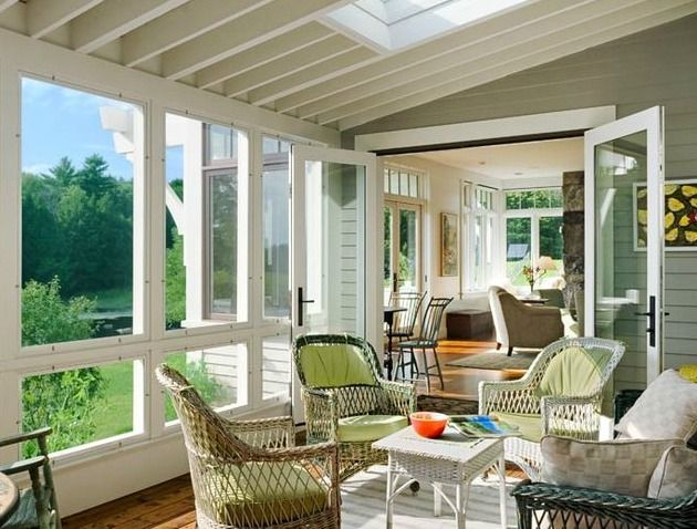 A New England Farmhouse Tour Porch Bliss Sunroom
