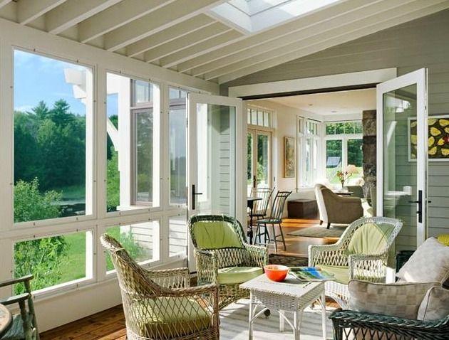 A New England Farmhouse Tour Porch Bliss Sunroom