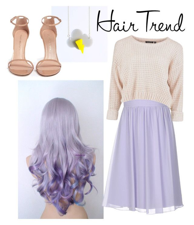 """""""Pastel💜"""" by anastasiastoupa on Polyvore featuring I Am Acrylic, Musani, Stuart Weitzman, hairtrend and rainbowhair"""