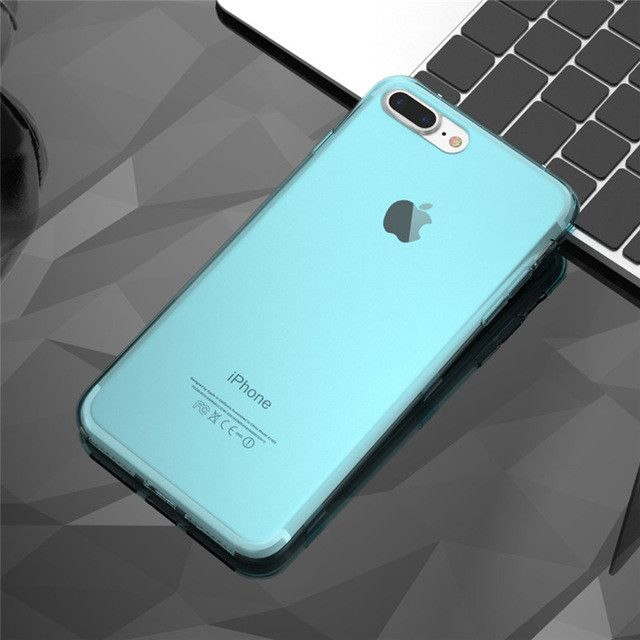 For iPhone 7 7 Plus Case Newest Candy Color Soft TPU Ultra Flip Case For Apple iPhone 6 6S Plus 4.7 5.5 Clear Transparent Cover