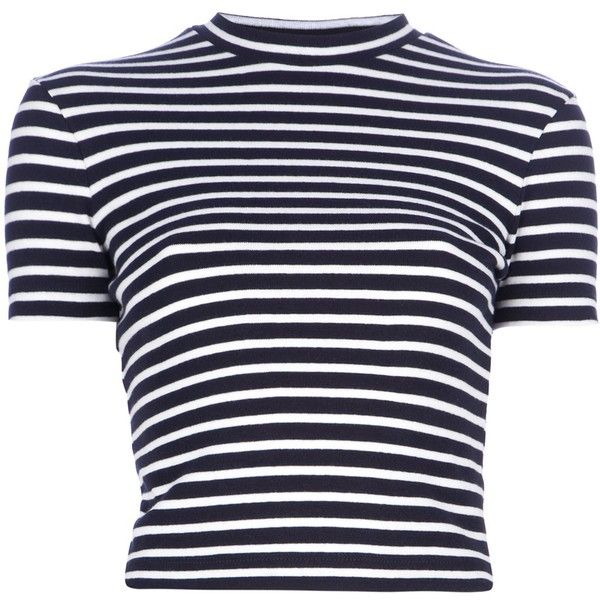 ALEXANDER WANG contrast stripe t-shirt ($195) ❤ liked on Polyvore