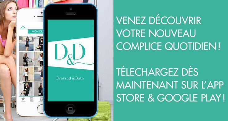 Application mobile pour synchroniser toutes vos tenues préférées dans votre téléphone // Disponible sur App Store https://itunes.apple.com/fr/app/dressed-and-date/id895416605?l=en&mt=8 & Google Play https://play.google.com/store/apps/details?id=air.fr.groupe1234.dressed #Application #Mode