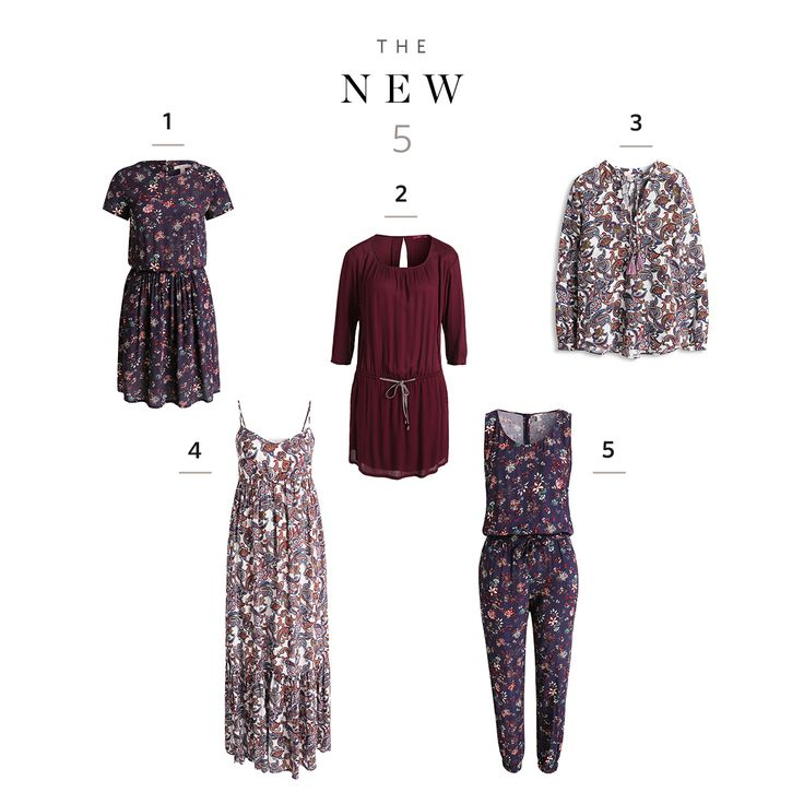What's new? 5 feminine and floral styles - have a rosy July!