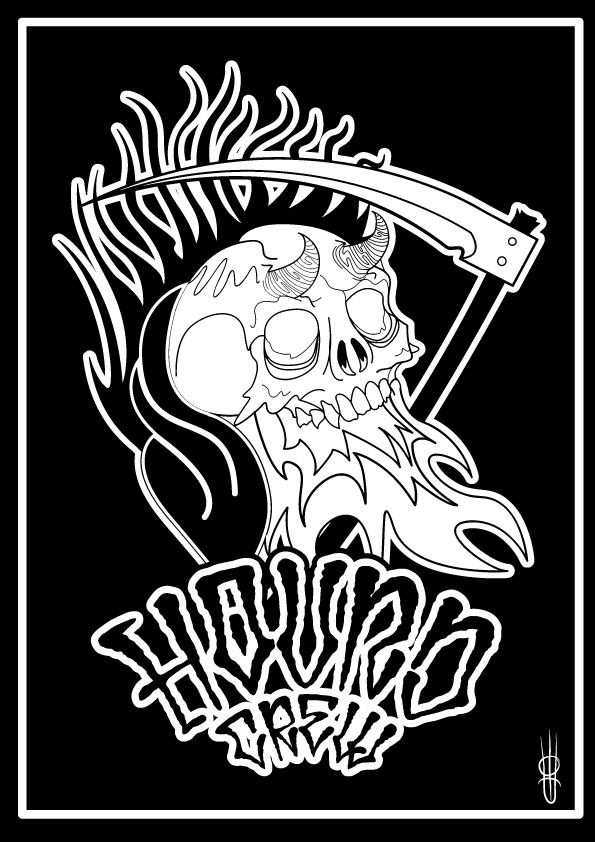 Hound Crew MORTE illustrazione di Edoardo Perazzini