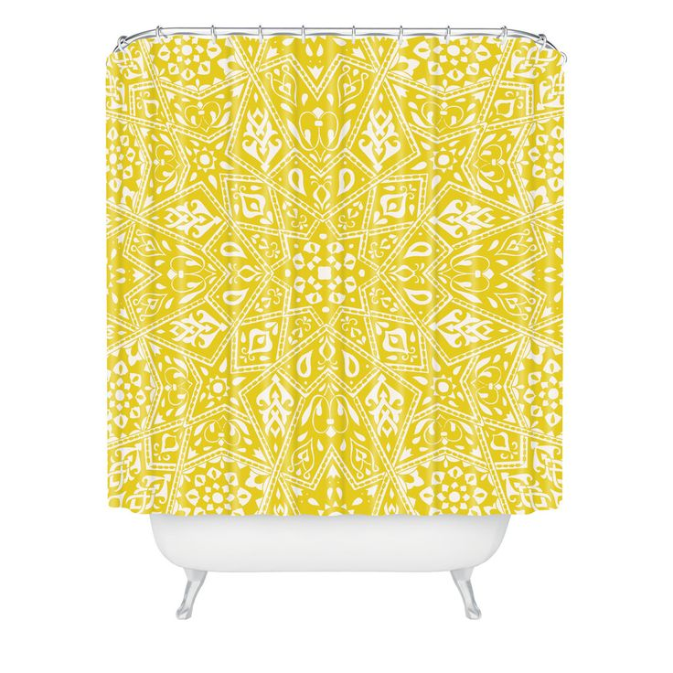 Aimee St Hill Amirah Yellow Shower Curtain | DENY Designs Home Accessories