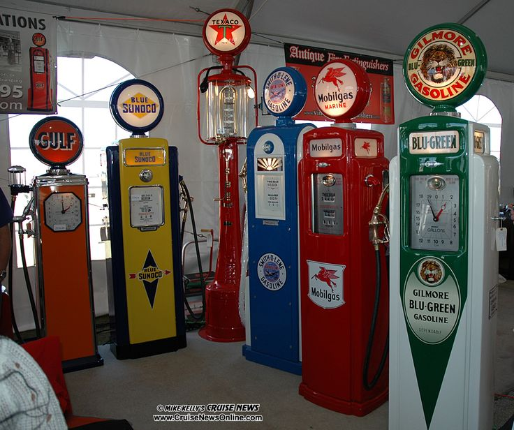 old gas pumps | Vintage gas pumps were for sale at one of the vendor's booths.