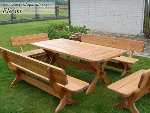 Outdoor Table And Benches Plans | Wood Outdoor Furniture Plans | How To  Build A Easy