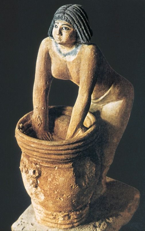 """ Woman at Beer Barrel"" ca. 2000 bc Tomb of Mersuankh Giza Limestone"