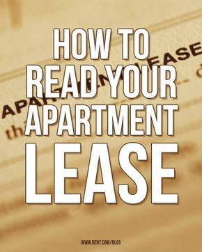 Looking for a new apartment? As you read through your apartment lease, make sure it answers all of the important questions. [Rent.com Blog] #rent #renting #apartment #lease #moving