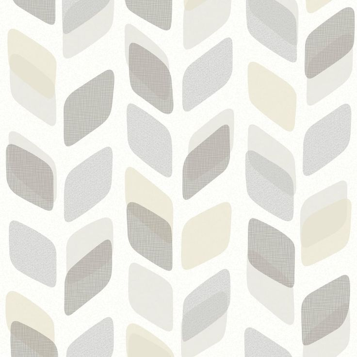 Galerie Unplugged Abstract Leaf Pattern Retro Geometric Vinyl Wallpaper UN3008
