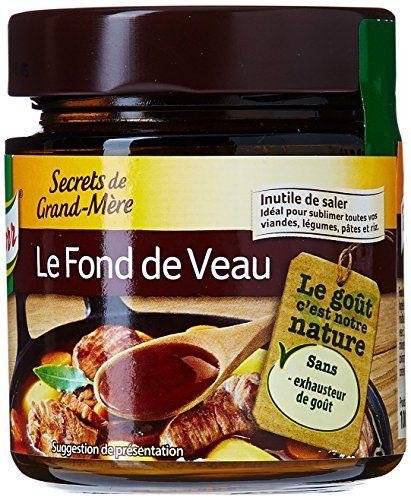 Knorr Fond de Veau Secrets de Grand-Mère 100g – Lot de 4: Sans exhausteur de goût. Idéal pour apporter du goût à vos viandes, légumes,…