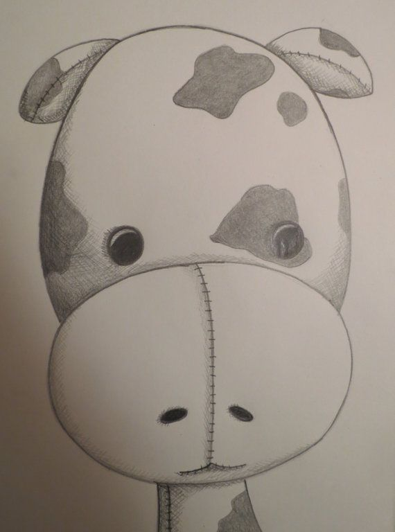 sketch cow calf easy pencil sketches drawings animal nursery animals cows funny paintingvalley captions