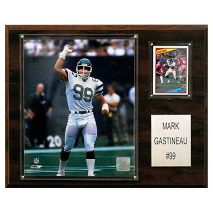 C and I Collectables NFL 15W x 12H in. Mark Gastineau New York Jets Player Plaque - 1215GASTINEAU