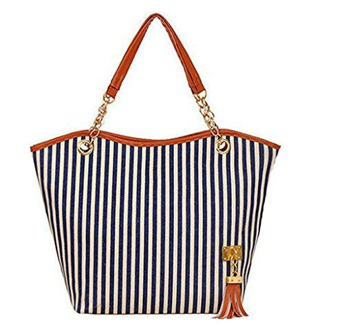 New Trending Shopper Bags: Generic Lady Women Totes Shoppers Handbag Strip Canvas Chain White Black Red Clutch Bags (Blue). Generic Lady Women Totes Shoppers Handbag Strip Canvas Chain White Black Red Clutch Bags (Blue)  Special Offer: $26.99  244 Reviews Specification: Material:Canvas  Faux Leather Handbag Type: Totes Color:Blue/Red/Black Size:29cm x 8cm x 28cm / (11.3″ x 3.2″ x...