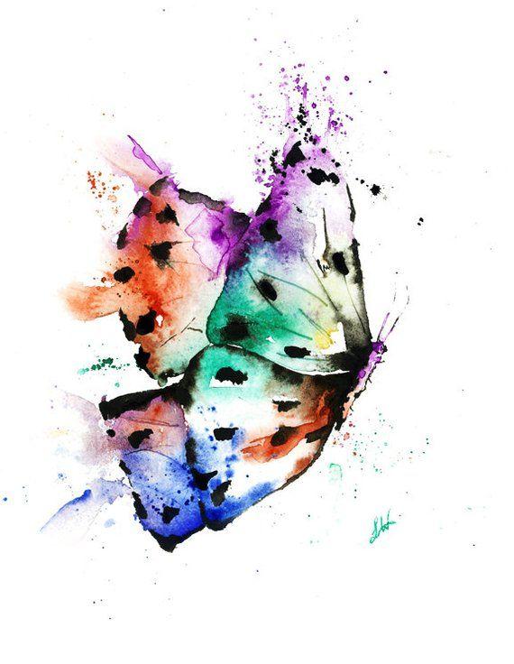 Butterfly Art Butterfly Print Butterfly Watercolour Modern