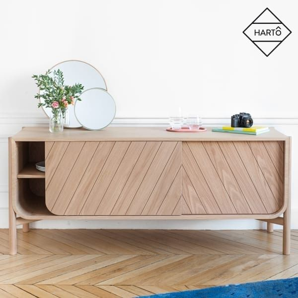 Außergewöhnlich Low Sideboard: Marius By Hartô, Solid Natural Oak And MDF Veneered Oak
