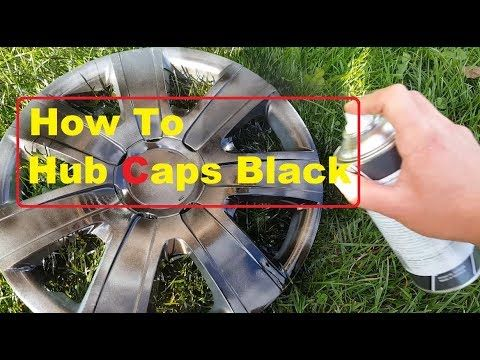 How to Paint the Wheels on your Car How to Paint your Hub caps Black