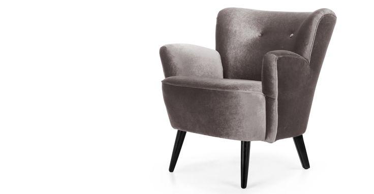 Lotus fauteuil, zilvergrijs