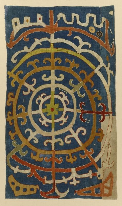 18th century silk embroidered Kaitag textile, Daghestan, Northeast Caucasus.