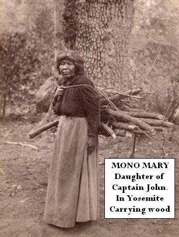 Mono Mary in Yosemite carrying wood - Yosemite Native American by Yosemite Native American, via Flickr
