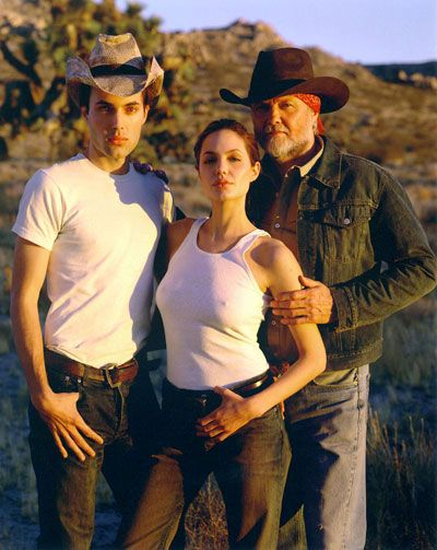 Angelina Jolie with her brother & father Jon Voight