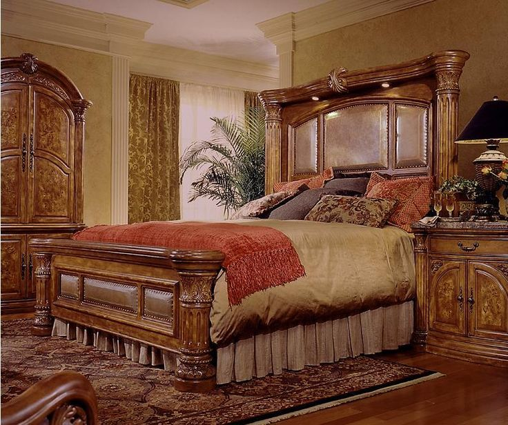 Platform King Size Bed Set For Master Bedroom
