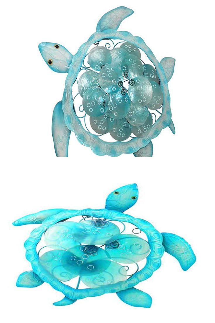 Darlin -NZ Turtle - Disc Aqua Capiz