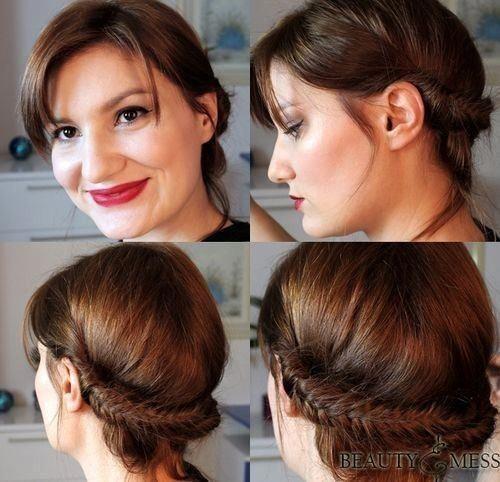 27 Super Trendy Updo Ideas for Medium Length Hair