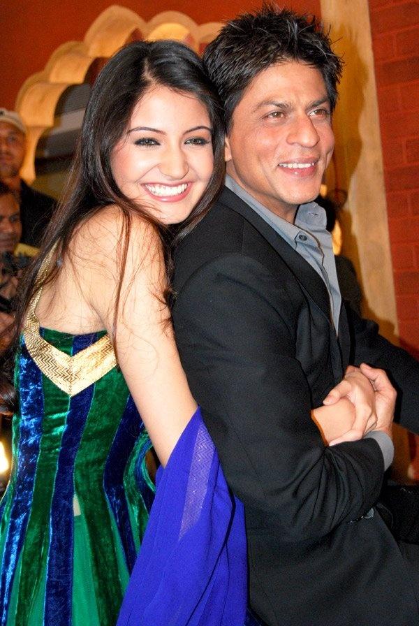 Shahrukh Khan and anushka sharma..anushka was far better at rnbj time..