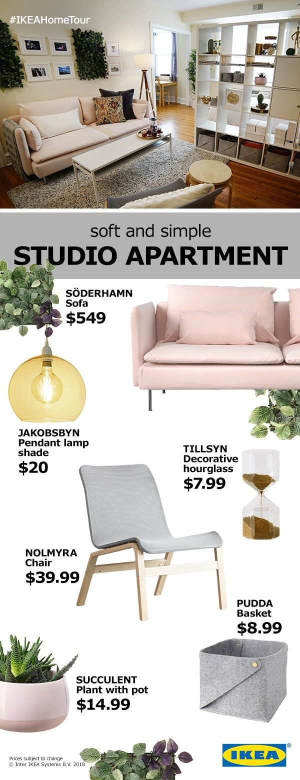 Here are some simple and affordable designs that will give your studio apartment a stylish touch while maximizing your space.