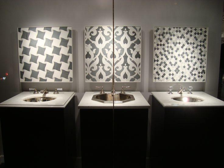 Waterworks 58th Street, New York Showroom Kitchen & Mosaic Window Display