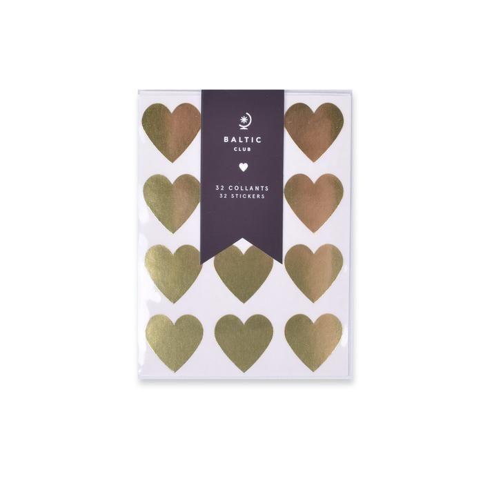 Shiny Hearts Stickers - Baltic Club www.thebalticclub.com