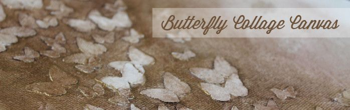 Butterfly Canvas Could do this with leaves, birds, flowers, etc.