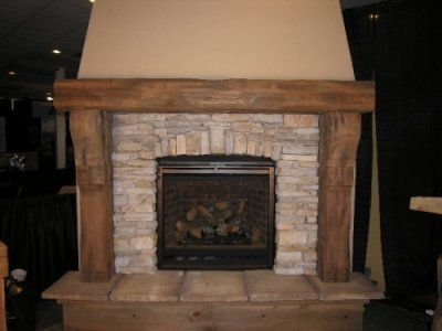 Like The Concept Not The Stone Color Stone Fireplace With Timber Mantel Pin Stone Fireplace