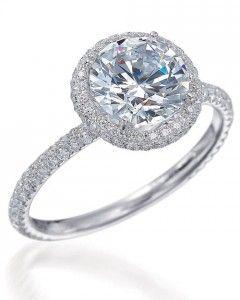 Round-Cut Diamond Engagement Rings