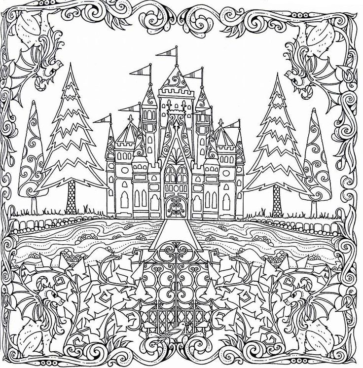 Adult Coloring Pages Books Castle Page Colouring Craft Corner Pencil Drawings Johanna Basford Kid Crafts Color Art