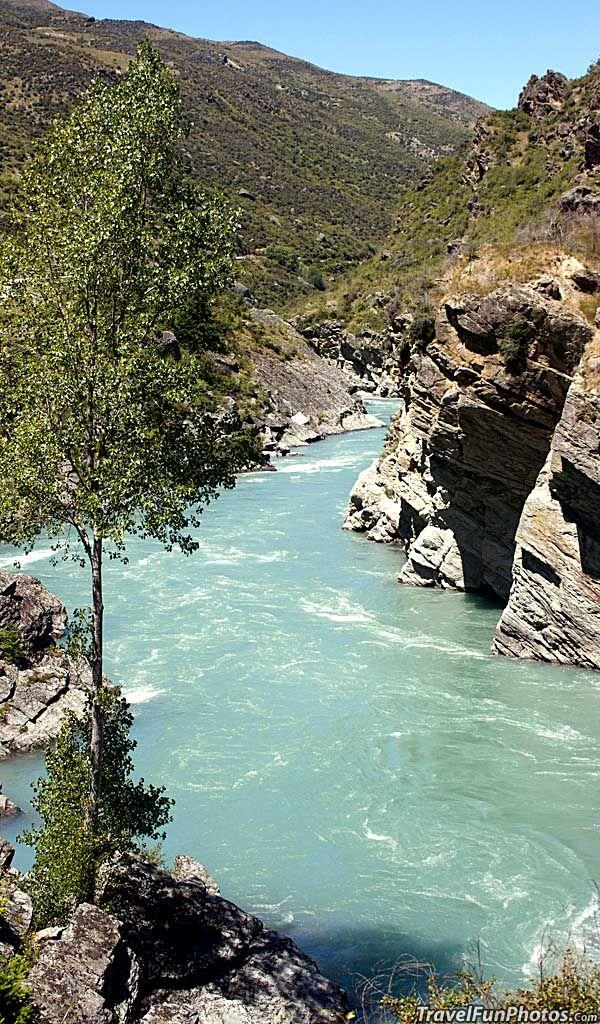 Roaring Meg Rapids of the Kawarau River, New Zealand
