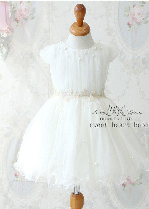 Cap sleeves Flower Girl DressParty Dresscheap от sweetheartbabe