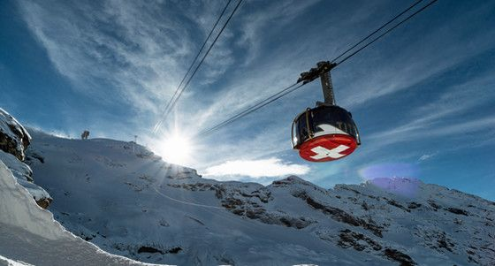 rotair, revolving cable car, glacier, cliff walk, TITLIS Engelberg